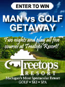 Man vs. Golf at Treetops Resort!